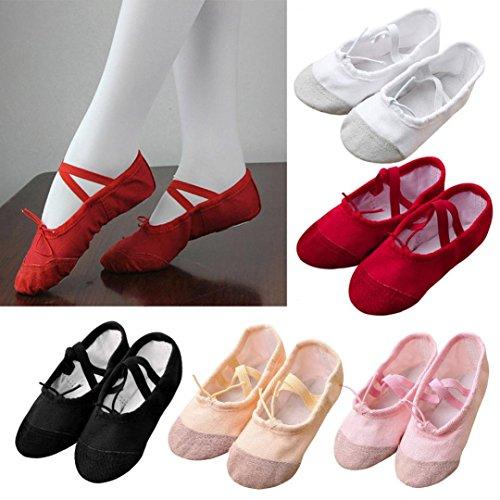 Ballet Dance Shoes,Elevin(TM)2017Canvas Ballet Pointe Dance Shoes Fitness Gymnastics Slippers for Kids Children Girls