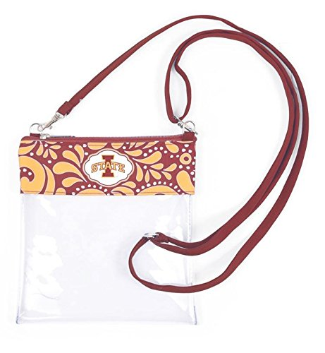 Desden Clear Game Day Crossbody For Accessories & Cosmetics- Iowa State Cyclones by Desden