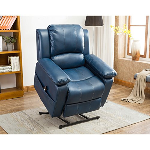 Greyson Living Chadsworth Leather Gel Lift Chair By Blue