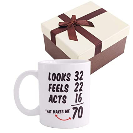 Christmas Gifts Funny 1948 70th Birthday Ideas Coffee Mug Tea Cup For Men And Women Best Novelty Ceramic Mugs Anniversary Unique 70