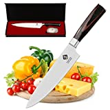 The IDEELAND PRO 8-Inch Chef's Kitchen Knife is a perfect combination of elegant design and technical sophistication crafted for professionals including chefs, culinary experts, food caterers as well as other kitchen enthusiasts. This multipurpose kn...