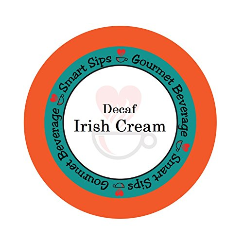 Smart Sips Coffee, Decaf Irish Cream Coffee, 24 Count Single Serve Cups Compatible With All Keurig K-cup Brewers, Decaffeinated Flavored Coffee