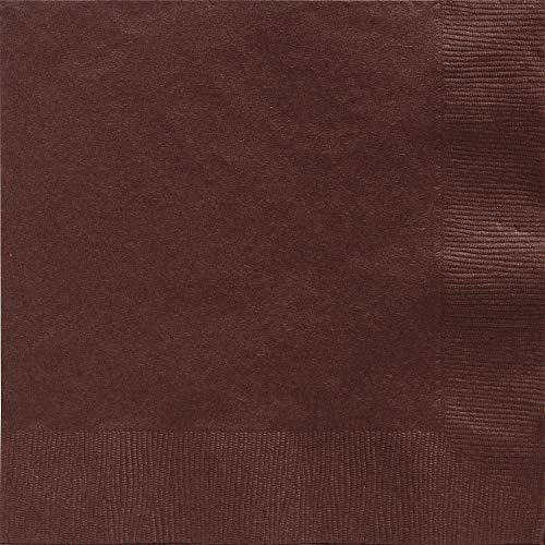 Big Party Pack 2-Ply Dinner Napkins | Chocolate Brown | Pack of 50 | Party Supply