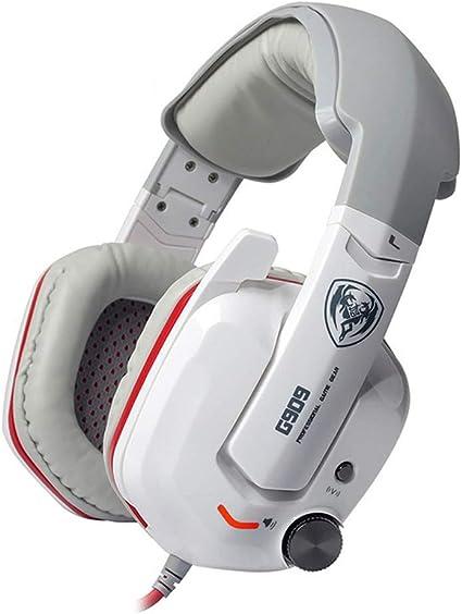 Sjyt Gaming Headset 3 5mm Chat Headset Für Büro Mic Pc Handy Usb Headset Voip Headset In Line Control Mit Noise Cancelling Weiß Küche Haushalt