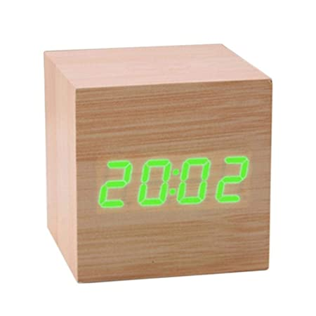 CCYK Mini Reloj de Control de Sonidos de Madera Nuevo Reloj de ...