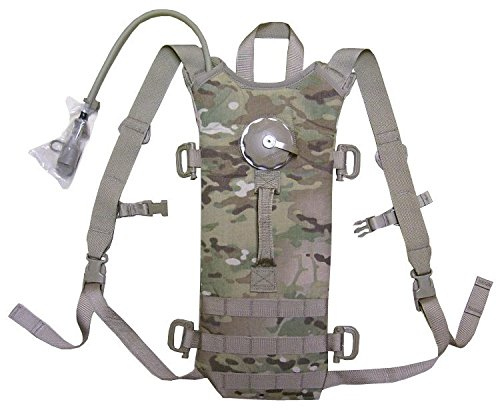 NEW US Army Military Tactical MOLLE II Camo Camouflage Multicam Water Hydramax HYDRATION CARRIER + BLADDER 3L 100oz SYSTEM Set Bag Back Pack (100 Oz Hydration Carrier)