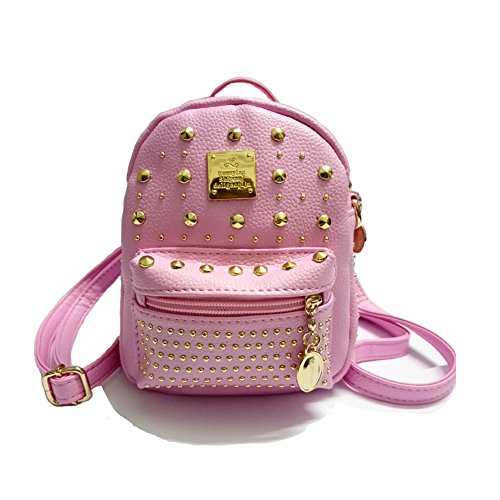Party Mini Purse - Kids backpack Birthday Party Gift for Girl 2-in-1 Satchel Mini Small Messenger Bag (Pattern 1 Pink)
