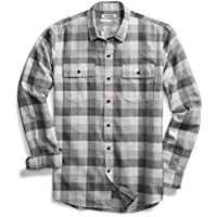 Goodthreads Men's Standard-Fit Long-Sleeve Buffalo Plaid Herringbone Shirt