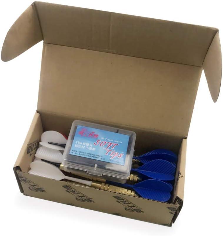 Viesky Electronic Plastic Dartboard Home Bar Random Color 12pcs//Set Soft Nylon Tip Darts PC Shaft