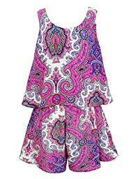 Truly Me, Charming Rompers (with Many Options), 4-6X, 7-16 (6, Pink Multi)