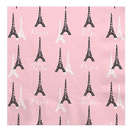 Big Dot of Happiness Paris, Ooh La La - Paris Themed Baby Shower or Birthday Party Luncheon Napkins (16 Count) -