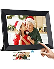 Digital Photo Frame 2K, TEKXDD 10 Inch WiFi Digital Picture Frames with 2K QHD 2048*1536 IPS Touch Screen, Smart Electronic Frame 16GB Storage, Auto-Rotate, Share Photos and Videos Instantly via Frameo App from Anywhere - Black
