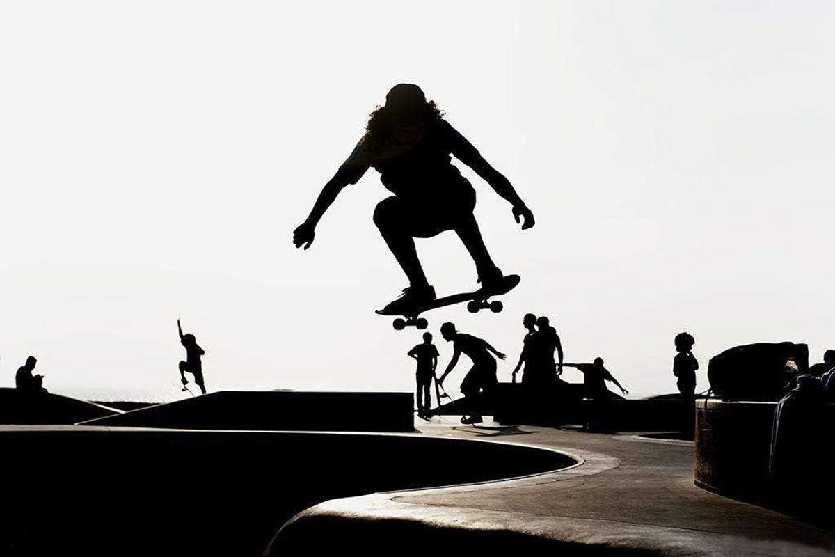Eseewin Skateboard 7 Layers Decks 31x8 Pro Complete Skate Board Maple Wood Longboards for Teens Adults Beginners Girls Boys Kids