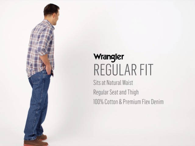 Wrangler Authentics Men's Classic 5-Pocket Regular Fit Cotton Jean