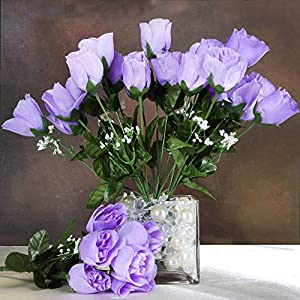 Efavormart 84 Artificial Buds Roses for DIY Wedding Bouquets Centerpieces Arrangements Party Home Decoration Supply – Lavender