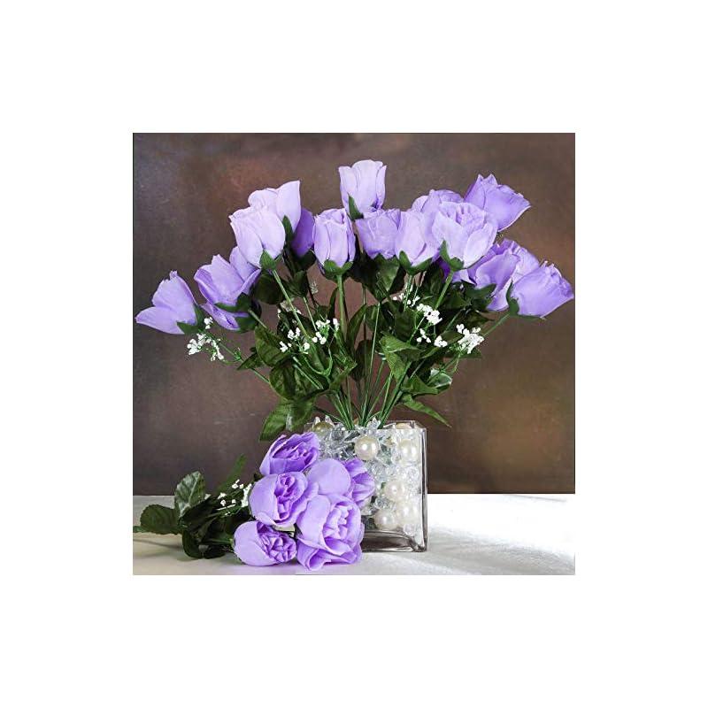 silk flower arrangements efavormart 84 artificial buds roses for diy wedding bouquets centerpieces arrangements party home decoration supply - lavender