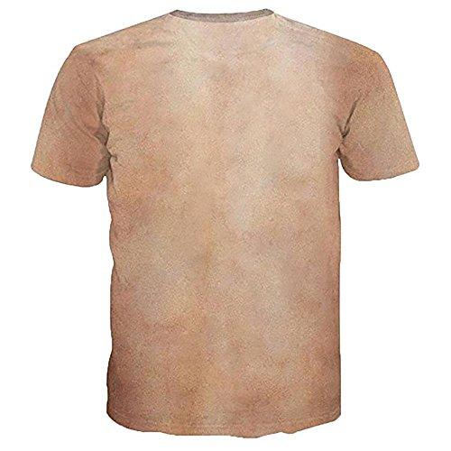 Tシャツ ユニセックス メンズ Kukoyo 春夏 ペアルック 3Dプリント 筋肉柄 ばら肉 カルビ 創意デザイン ファション カジュアル おもしろ おしゃれ 半袖 個性的Tシャツ 吸汗速乾  トップス 男女兼用