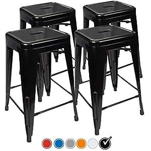 Amazon Com Urbanmod 24 Inch Bar Stools Set Of 4 By Black