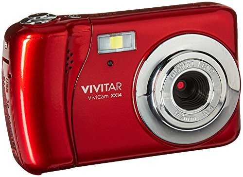Vivitar VX018 Selfie Cam Digital Camera, Red