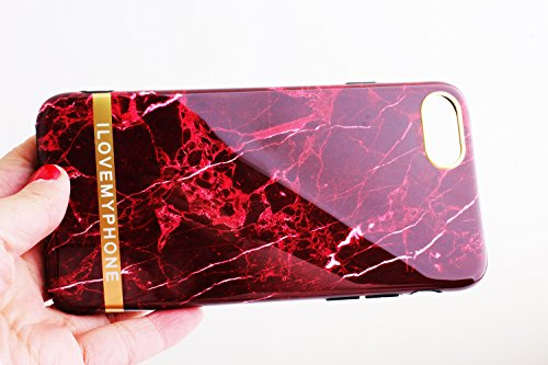 Iphone 7 Case Iphone 8 Covers Marble Design Soft Slim Phone Case for Girls with 1 Piece Iphone 7 Glass Screen - Plus O-ring Womens