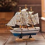 Jaycoknit Mini Mediterranean Sea's Lucky Wooden Handcrafted Ship Home Decor Showpiece-13 cm