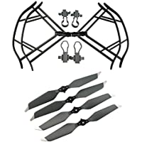 Upgraded Propellers for DJI Mavic Pro 8331 8331F Low-Noise Quick-release Folding Propellers Prop Guard Bumper Rc Quadcopter Spare Part Set (Black-Gray)