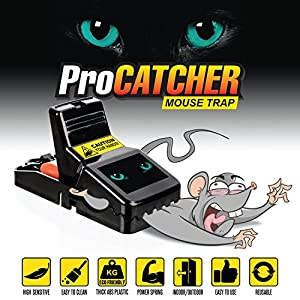 Mouse Trap | Effective and Quick Mice Rat Snap Traps that Work | More Humane Rodent Killer | Safe & Sanitary Professional Pest Control Products | 4 pack | by Nicexx by ProCatcher