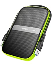 Silicon Power SP010TBPHDA60S3K 1 TB Rugged Armor A60 Shockproof Water-Resistant 2.5-Inch USB 3.0 External Portable Hard Drive