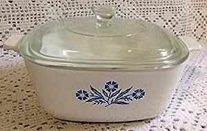 Vintage Corningware Cornflower Blue 1.5 QT Casserole w Lid P-1 1/2- B