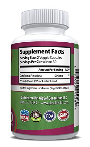 GiaSof-Health-Caralluma-Fimbriata-Extract-1200-MgSuper-Strength-Best-Weight-Loss-Pills-Lose-Weight-Fast-Fat-Carb-Blocker-Block-Fat-Intake-Build-Lean-Muscle-Free-Standard-Shipping