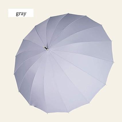 Paraguas automático Grande del Refuerzo de la manija Larga, Marco a Prueba de Viento Reforzado