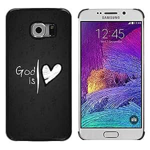 Be Good Phone Accessory // Dura Cáscara cubierta Protectora Caso Carcasa Funda de Protección para Samsung Galaxy S6 EDGE SM-G925 // God Is Love Jesus Heart