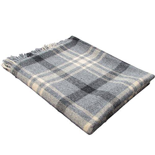 100% Pure Lambswool Throw Blanket
