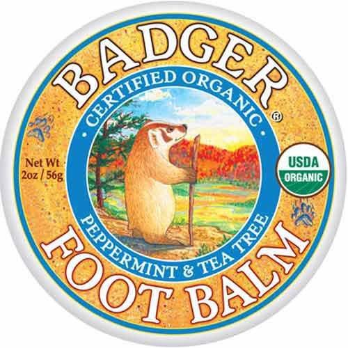 Badger - Organic Peppermint and Tea Tree Foot Balm - 2 oz.