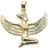 Pendentif Isis déesse égyptienne en plaqué or + chaîne