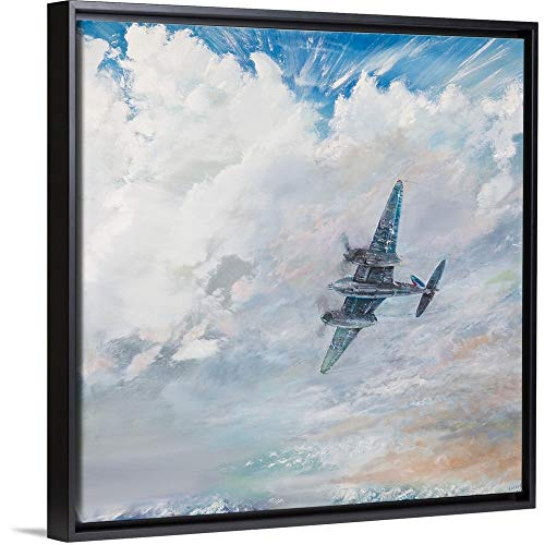 Mosquito Twin Engine (Vincent Alexander Booth Floating Frame Premium Canvas with Black Frame Wall Art Print Entitled Mosquito, 2016 20