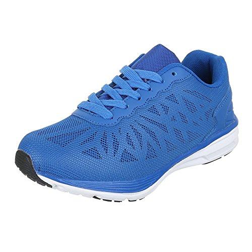 Azul Design para Material Zapatillas de Ital azul mujer Sintético pqw04pd