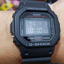 Amazon Com Casio Men S G Shock Quartz Watch With Resin Strap Black