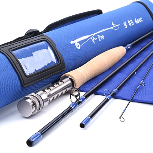 Maxcatch V-pro Fly Rod IM10 Graphite 4-piece Fly Fishing Rod with Cordura Tube (9ft 5weight)