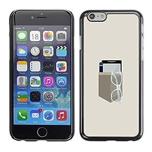 LECELL--Funda protectora / Cubierta / Piel For iPhone 6 -- EQUIPO DE BOLSILLO MINIMALISTA --