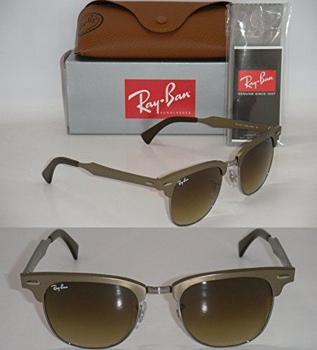 93d7fdc13471a RAY BAN CLUBMASTER ALUMINUM RB 3507 139 85 51MM BRUSHED BRONZE   LIGHT BROWN  NEW - Buy Online in UAE.