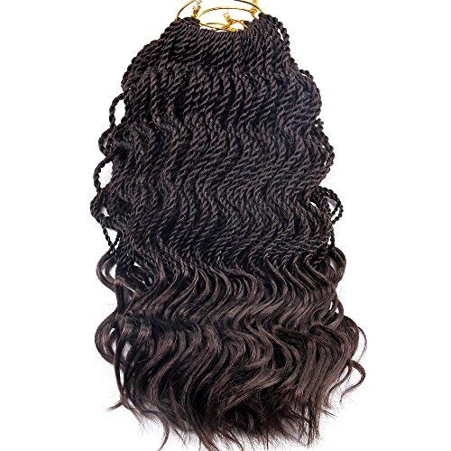 Wavy Senegalese Twist Crochet Braids 6packs/lot 14Inch 35Strands/Pack Synthetic Kanekalon Crochet Hair Curly Havana Mambo Twist Braiding Hair (14 Inch, 4#)