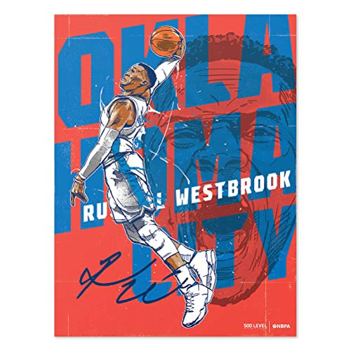 24' Dual Level - 500 LEVEL Russell Westbrook Poster for Young Oklahoma City Basketball Fans - Orange 18