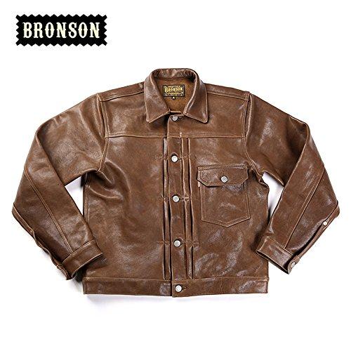 Bronson Men's Tanned Sheepskin Leather Jacket 506XX Leather Jacket (XL) by Bronson