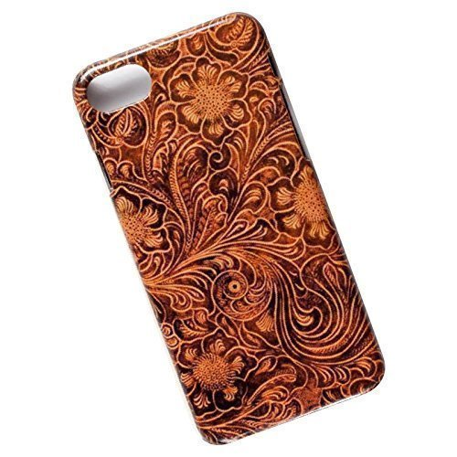 Slim Case for iPhone 7, 8. Tooled Leather Look.