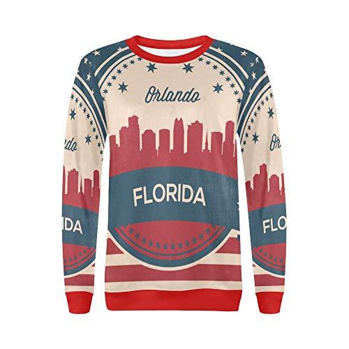 Lumos3DPrint Florida State Orlando Skyline Women's Pullover Sweater -