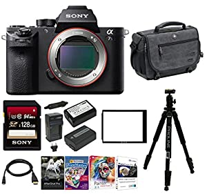 Sony Alpha a7SII Mirrorless Digital Camera w/ Storage System Backpack & 128 GB Memory Card Bundle