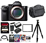 Sony Alpha a7SII Mirrorless Digital Camera w/ Laptop Storage Backpack & 128 GB Memory Card Bundle (Body Only)