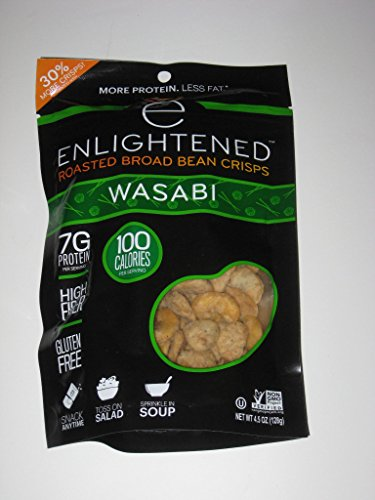 ENLIGHTENED BROAD BEAN (FAVA BEANS) CRISPS 3-4.5 oz BAGS (WASABI 3-4.5oz)