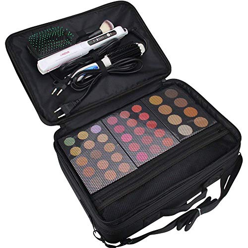 Other Professional Storage Partition Cosmetic Box Three Waterproof Layer Travel Makeup Bag-Black        Amazon imported products in Islamabad